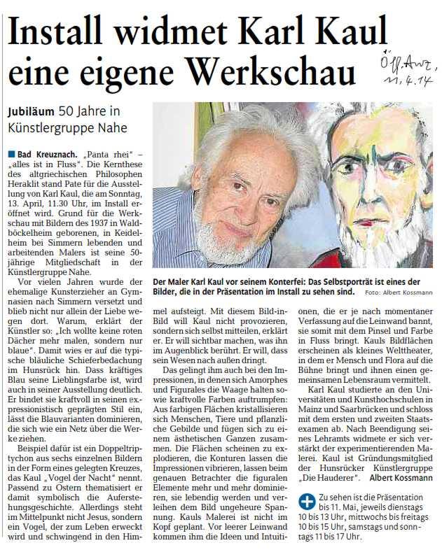 Pressebericht Ausstellung Karl Kaul