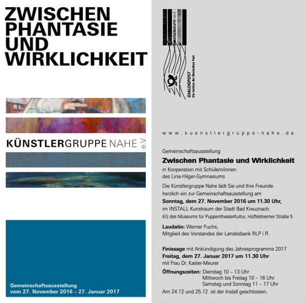 Herbstausstellung 2017 Künstlergruppe Nahe