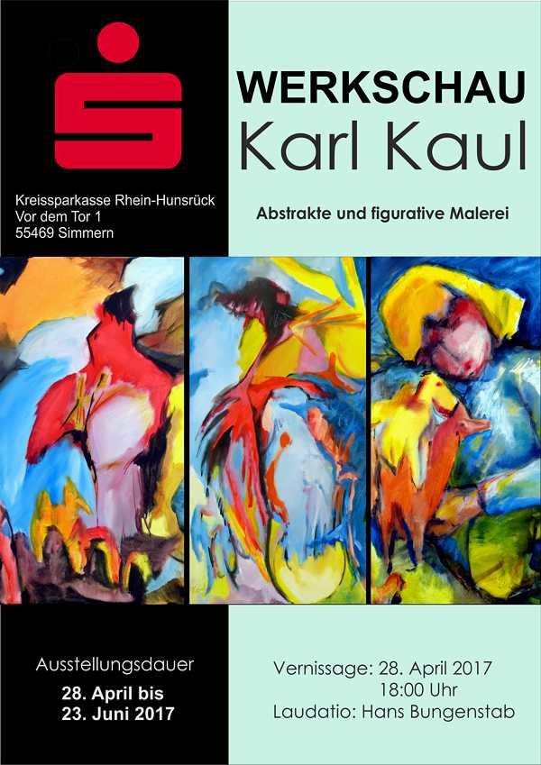 Ausstellung Kaul in der Kreissparkasse Simmern