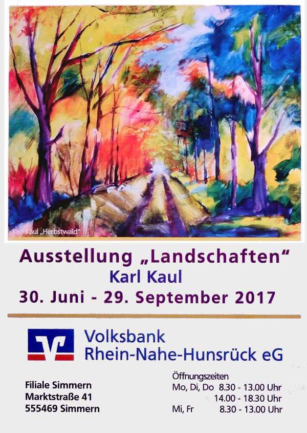 Ausstellung Landschaften in VoBa Simmern 2017