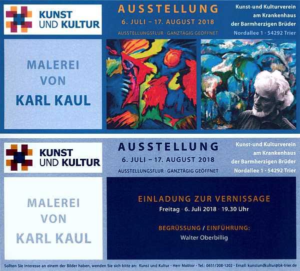 Ausstellung Kaul in Trier 2018