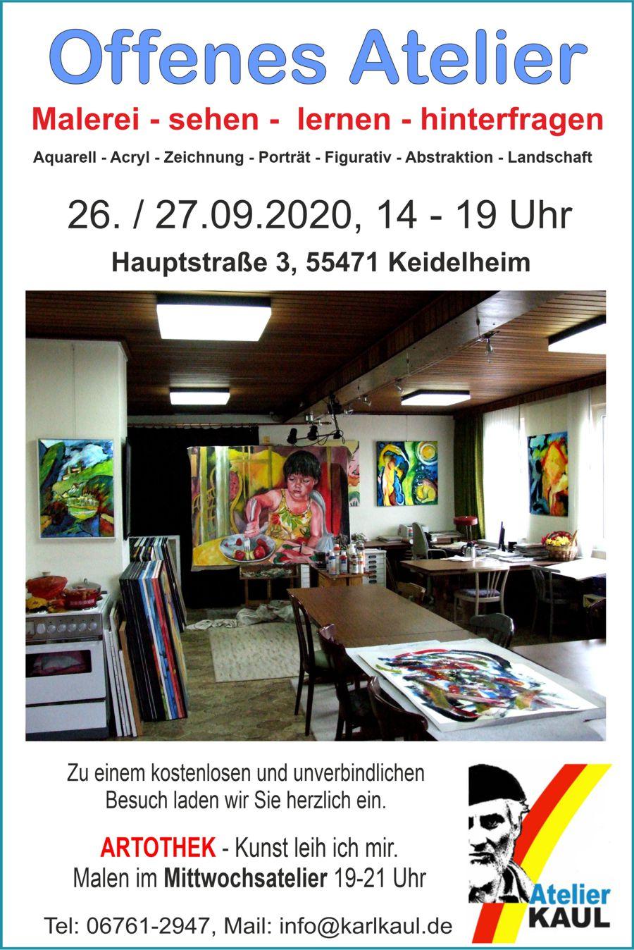 ffenes Atelier 2020 Karl Kaul